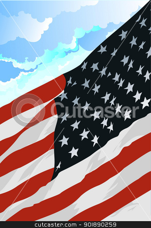 4th July – Independence day of United States of America. Poste stock vector clipart, 4th July – Independence day of United States of America. Poster for  graphic designers by Leonid Dorfman