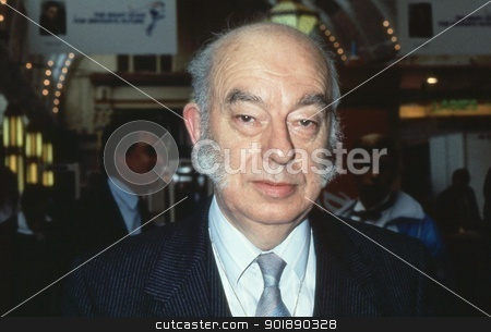 Rt.Hon. Sir Rhodes Boyson stock photo, Rt.Hon. Sir Rhodes Boyson, Conservative party Member of Parliament for Brent North, attends the party conference at Blackpool in Lancashire, England on October 10, 1989. by newsfocus1
