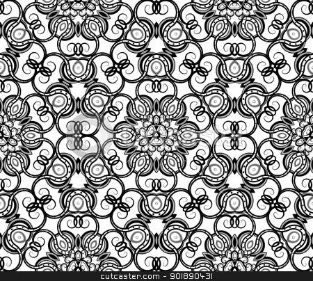 Seamless ornamental wallpaper stock vector clipart, Seamless ornamental wallpaper by Moenez