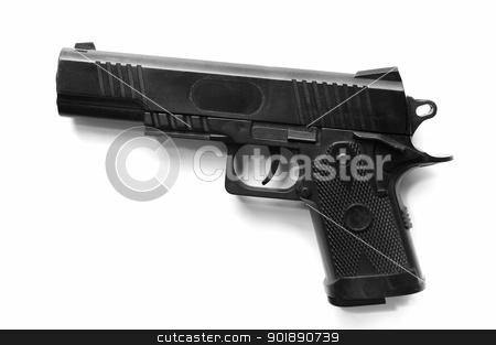 Plastic toy gun stock photo, Plastic toy gun, Toy isolated by pixbox77