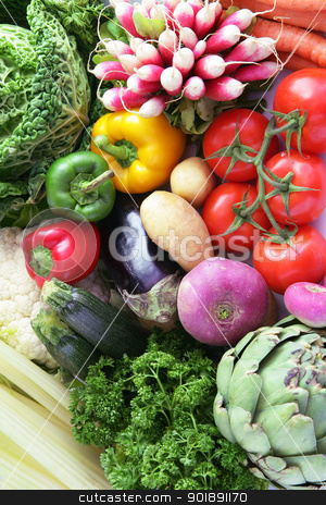 Variety of vegetables stock photo, Variety of vegetables by photography33