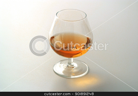 Glass of cognac stock photo, Glass of cognac by photography33