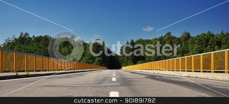 The road bridge over the dam stock photo, The road bridge over the dam by Ondrej Vladyka