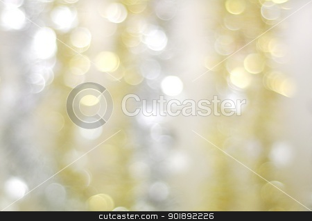 Christmas decorations stock photo, Abstract Christmas background of silver and gold chain by Ondrej Vladyka