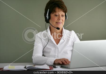 A confident secretary stock photo, A confident secretary by photography33