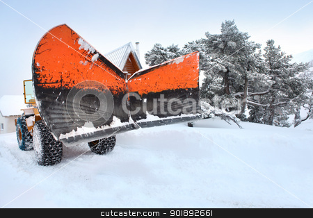 Snow plough stock photo, Snow plough by photography33