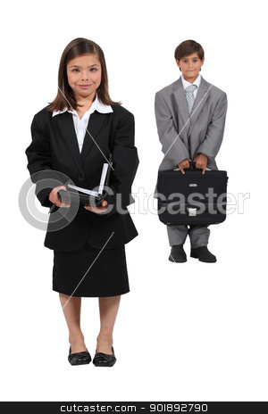 Children dressed as business people stock photo, Children dressed as business people by photography33