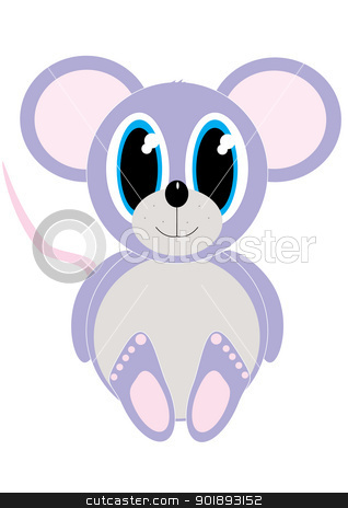 Cartoon mouse stock vector clipart, Cartoon illustration of baby mouse by William Robson