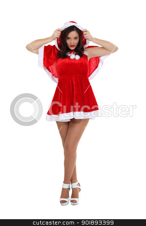 Sexy woman dressed as Mrs. Claus stock photo, Sexy woman dressed as Mrs. Claus by photography33