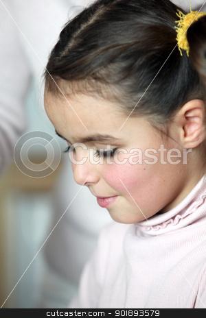 Closeup of a little girl's face stock photo, Closeup of a little girl's face by photography33