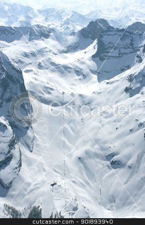 Snow covered mountains stock photo, Snow covered mountains by photography33