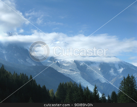 Misty mountain range stock photo, Misty mountain range by photography33