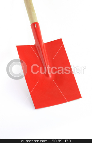 Red shovel stock photo, Red shovel by photography33