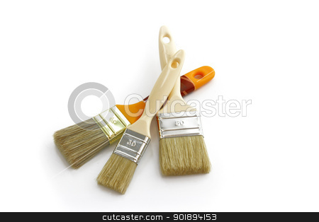 Decorating paintbrushes stock photo, Decorating paintbrushes by photography33