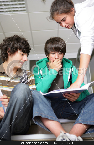 teenagers at school stock photo, teenagers at school by photography33