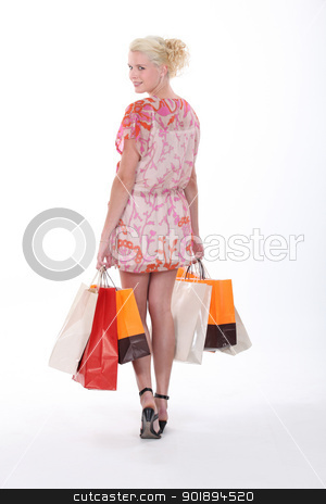 Woman shopping stock photo, Woman shopping by photography33