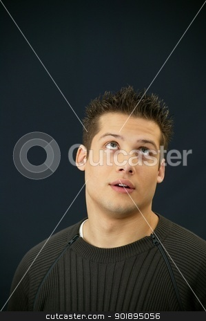 Dumb looking man stock photo, Dumb looking man by photography33