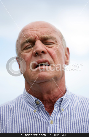 Annoyed old man stock photo, Annoyed old man by photography33