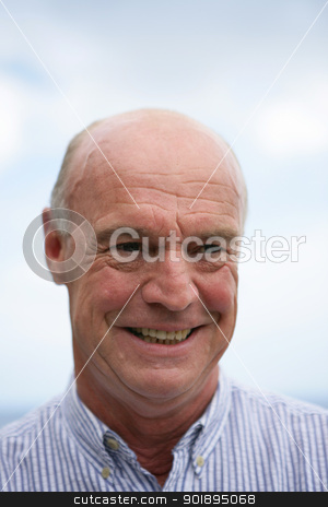 Smiling older man stock photo, Smiling older man by photography33