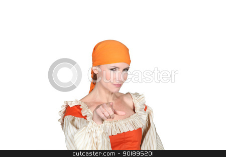 portrait of a woman in pirate costume stock photo, portrait of a woman in pirate costume by photography33