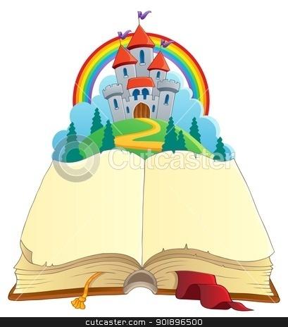Fairy tale book theme image 1 stock vector clipart, Fairy tale book theme image 1 - vector illustration. by Klara Viskova