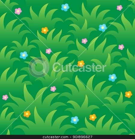 Grassy seamless background 1 stock vector clipart, Grassy seamless background 1 - vector illustration. by Klara Viskova