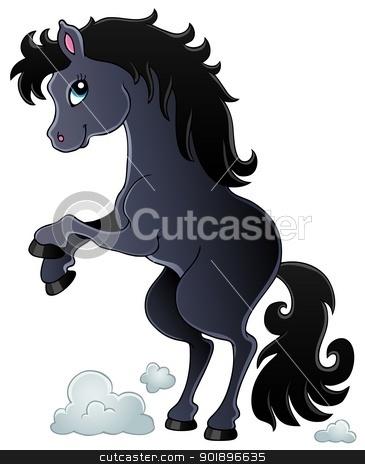Horse theme image 2 stock vector clipart, Horse theme image 2 - vector illustration. by Klara Viskova