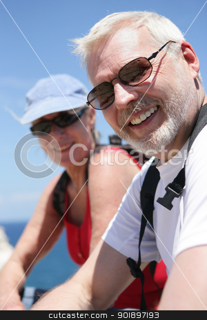 Cyclists stock photo, Cyclists by photography33