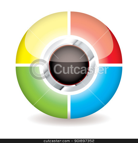 Modern icon concept stock vector clipart, Simple modern icon symbol with bright colours and drop shadow by Michael Travers