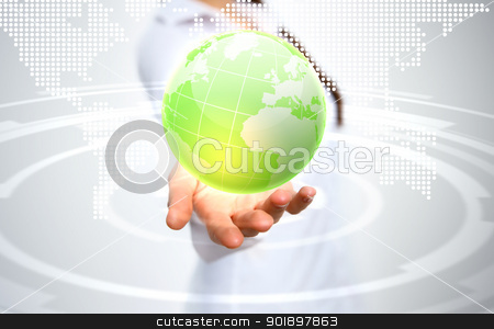 Planet as symbol of social networking stock photo, Image of our planet as symbol of social networking by Sergey Nivens
