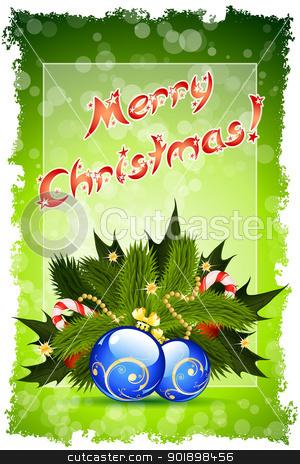 Grungy Merry Christmas Card stock vector clipart, Abstract Grungy Merry Christmas Card by Vadym Nechyporenko