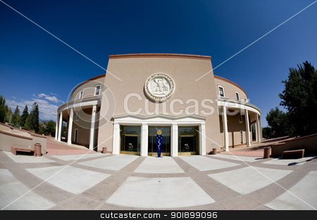 State Capital Building in Santa Fe, New Mexico. stock photo,  by WScott