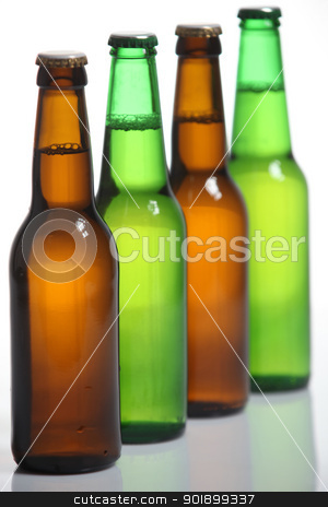 Beer bottles stock photo, Beer bottles by photography33