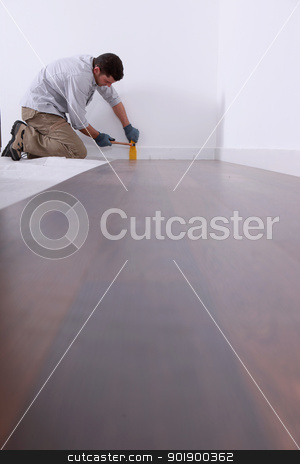 Laying a parquet. stock photo, Laying a parquet. by photography33