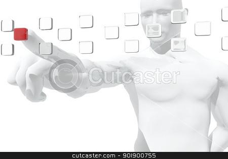 Human figure selecting information stock photo, Human figure selecting information by genialbaron