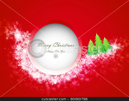 Christmas background stock vector clipart, Red Christmas background with space for text  by Miroslava Hlavacova