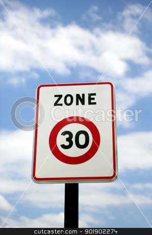30mph zone stock photo, 30mph zone by photography33
