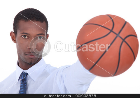 Man holding basketball stock photo, Man holding basketball by photography33