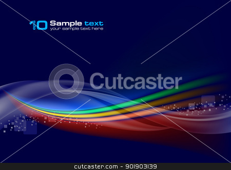 Abstract vector wave stock photo, Abstract vector wave on navy background by dvarg