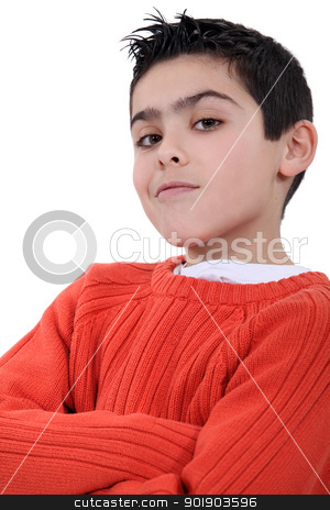 A self-assured boy stock photo, A self-assured boy by photography33