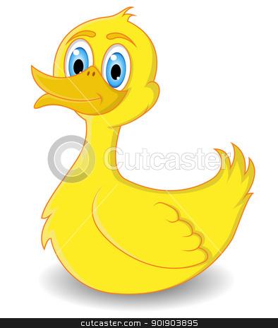 duck cartoon stock vector clipart, vector illustration of duck cartoon by sunlight789