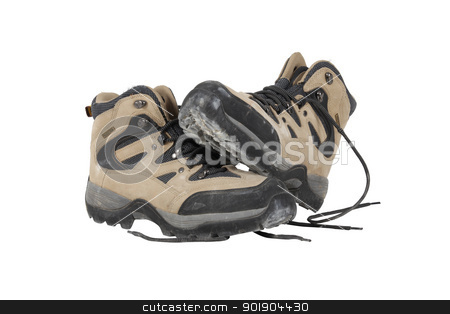 Walking boots stock photo, Walking boots by photography33