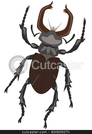 Stag Beetle stock vector clipart, Stag Beetle. The illustration on a white background by Sergey Skryl
