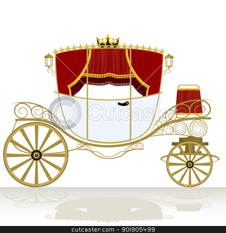 Coach stock vector clipart, The coach-old means of transportation. The illustration on a white background. by Sergey Skryl