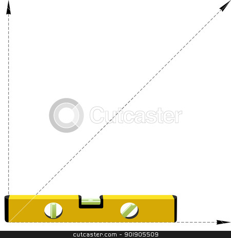 Builders level stock vector clipart, Builders level. Device for checking the vertical and horizontal levels. Illustration on white background. by Sergey Skryl