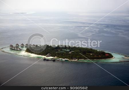 The Maldives stock photo, Aerial shot of a vacation island in the Maldives by Abdul Sami Haqqani