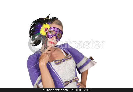 Woman in masquerade outfit stock photo, Woman in masquerade outfit by photography33