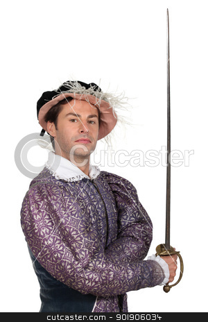 Man in TudorCostume stock photo, Man in TudorCostume by photography33
