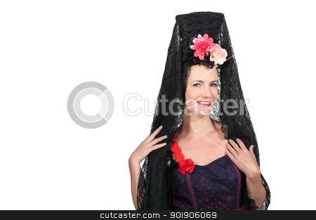 portrait of a woman with costume stock photo, portrait of a woman with costume by photography33