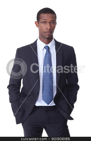 Black young businessman stock photo, Black young businessman by photography33